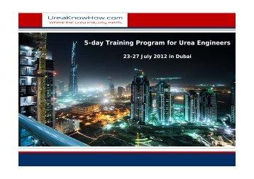 5-day Training Program for Urea Engineers - UreaKnowHow.com