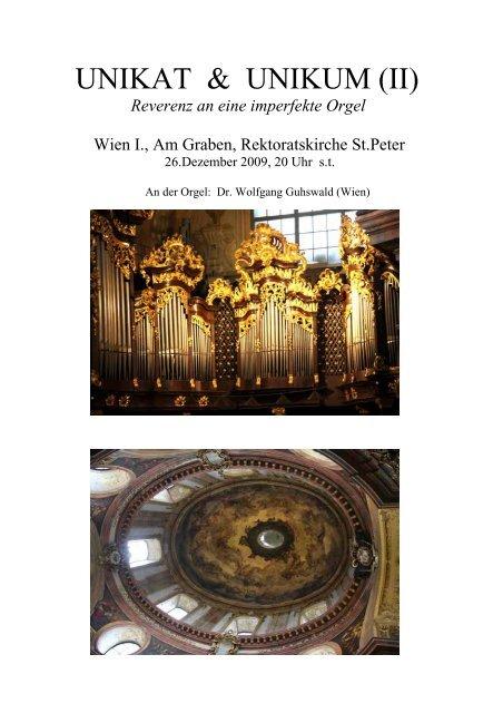 Programm - Orgelbau Walcker-Mayer