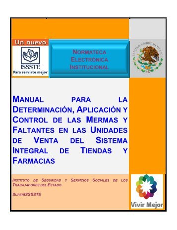 manual para la determinación, aplicación y control de las mermas y ...