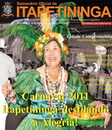 Carnaval 2011 Itapetininga desfilando a Alegria! - Prefeitura ...