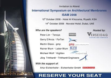 International Symposium On Architectural Membranes ISAM 2008