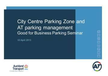 City Centre Parking Zone and AT parking management