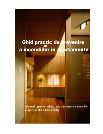 Ghid practic de prevenire a incendiilor in apartamente - IGSU