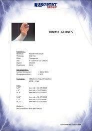 VINYLE GLOVES - Sinerji Grup