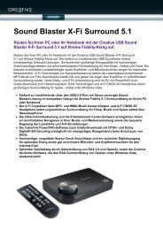 Sound Blaster X-Fi Surround 5.1