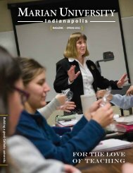 Download the spring 2011 issue of the Marian University Magazine