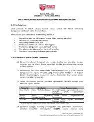 FAKULTI SAINS UNIVERSITI PUTRA MALAYSIA GARIS ... - UPM