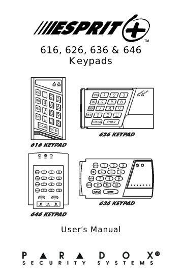 616/626/636/646 LED KEYPAD CONNECTIONS Panel/Keypad