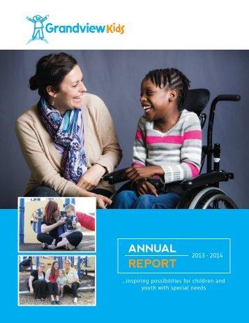 Annual Report - 2013-2014 - Grandview Children's Centre