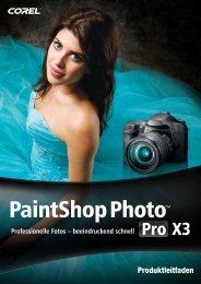 Corel PaintShop Photo Pro X3 Reviewer's Guide (DE)