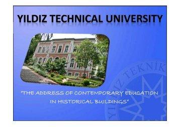 About Yildiz Technical University - ITAM-VIII