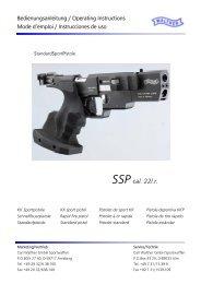 Bedienungsanleitung SSP