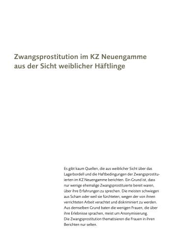 Zwangsprostitution im KZ Neuengamme aus der Sicht weiblicher ...