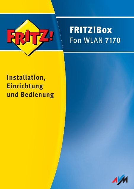 FRITZ!Box Fon WLAN 7170 - Jacob Elektronik