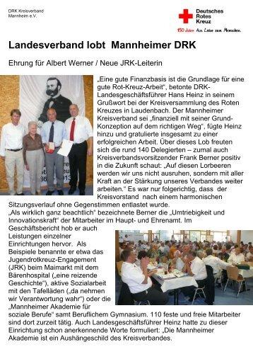Kreisversammlung 2013 - DRK-Kreisverband Mannheim e.V.