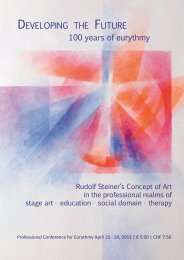 stage eurythmy - International Eurythmy Therapy Forum
