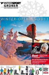 WINTERVOPENING 2011 - Intersport Gruner