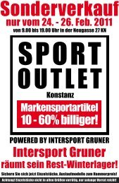 26. Feb. 2011 - Intersport Gruner