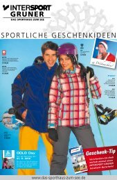 27. 11. 2010 - Intersport Gruner
