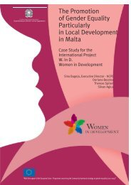 The Promotion of Gender Equality Particularly in Local Development ...