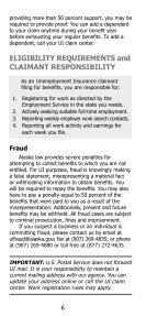 Unemployment Insurance Claimant Handbook - Alaska Department ... - Page 6