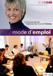 Cnam Poitou-Charentes - Mode d'emploi 2012-2013 - ToutPoitiers