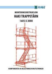 Haki trappetårn monteringsveiledning - Byggesystemer