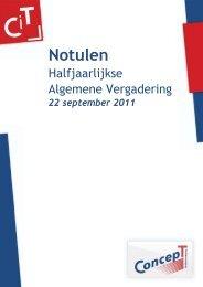 Notulen HAV 2011 - Studievereniging ConcepT - Universiteit Twente