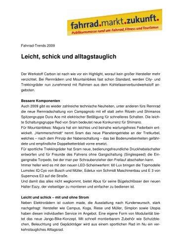 Leicht, schick und alltagstauglich - LifePR.de