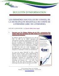 2008-01-09 - MRC Lotbinière