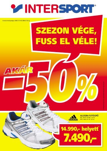 50% szezon vége, fuss el véle! - Intersport