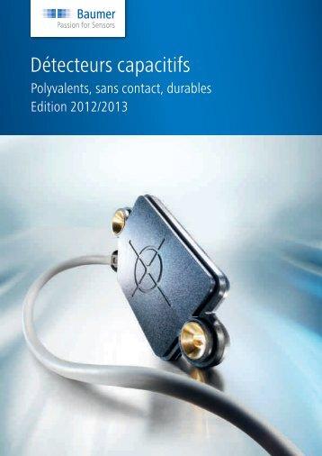 Catalogue des produits - Détecteurs capacitifs - Baumer