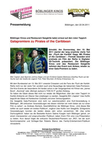 Galapremiere zu Pirates of the Caribbean - LifePR.de