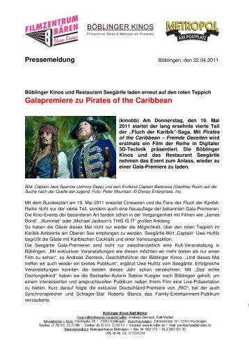 Galapremiere zu Pirates of the Caribbean - LifePR.de