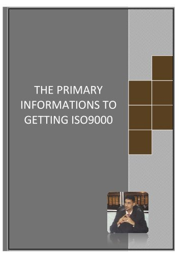 THE PRIMARY INFORMATIONS TO GETTING ISO9000