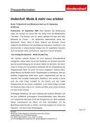 dodenhof: Mode & mehr neu erleben - LifePR.de