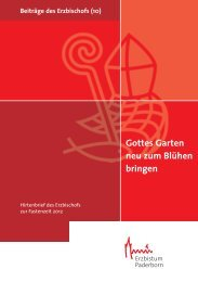 Gottes Garten neu zum Blühen bringen - Erzbistum Paderborn