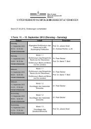 1.Term: 11. – 15. September 2012 (Dienstag – Samstag)