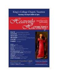 King's College Chapel, Taunton - Somerset Chamber Choir
