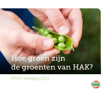Hoe groen zijn de groenten van HAK? - PressPage