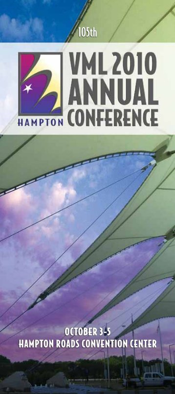 2010 Conference program (PDF) - the Virginia Municipal League