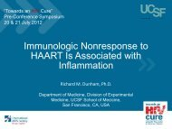 Immunologic Nonresponse to HAART Is ... - International AIDS Society