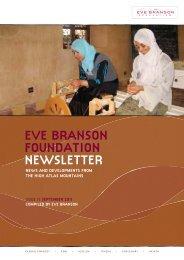 EVE BRANSON FOUNDATION NEWSLETTER - Kasbah Tamadot ...