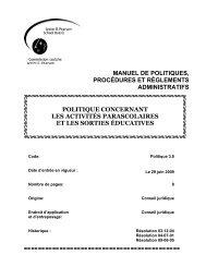manuel de politiques, procédures et règlements administratifs ...