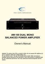 AW100DMB - Electrocompaniet