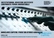 Institutional Investor Institute Corporate Funds Roundtable ...