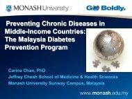 The Malaysia Diabetes Prevention Program - Peers For Progress