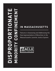 Disproportionate Minority Confinement In Massachusetts