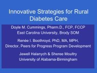 Innovative Strategies for Rural Diabetes Care - Peers For Progress
