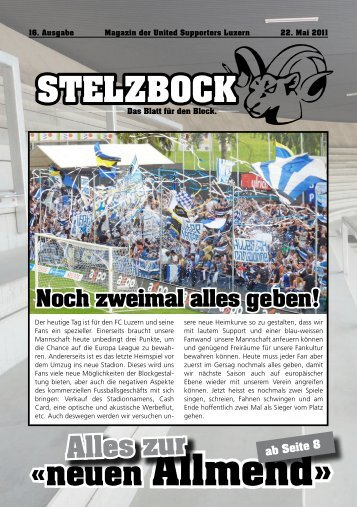 «neuen Allmend» - United Supporters Luzern